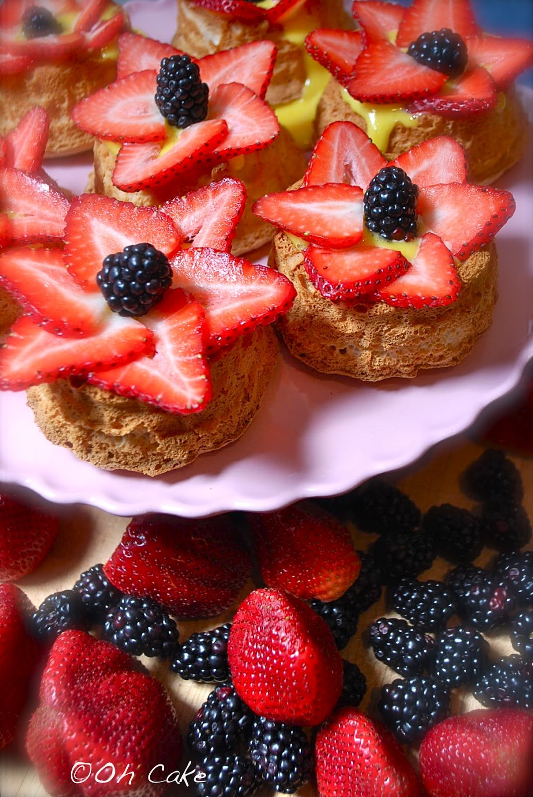Oh cake berrylove flower berry angel food baskets forumfinder Choice Image