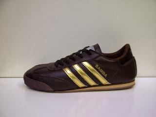 jual Adidas Samba coklat lis gold