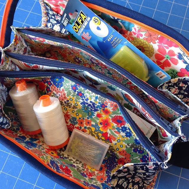 Liberty Christmas Present Sew Together Craft Bag