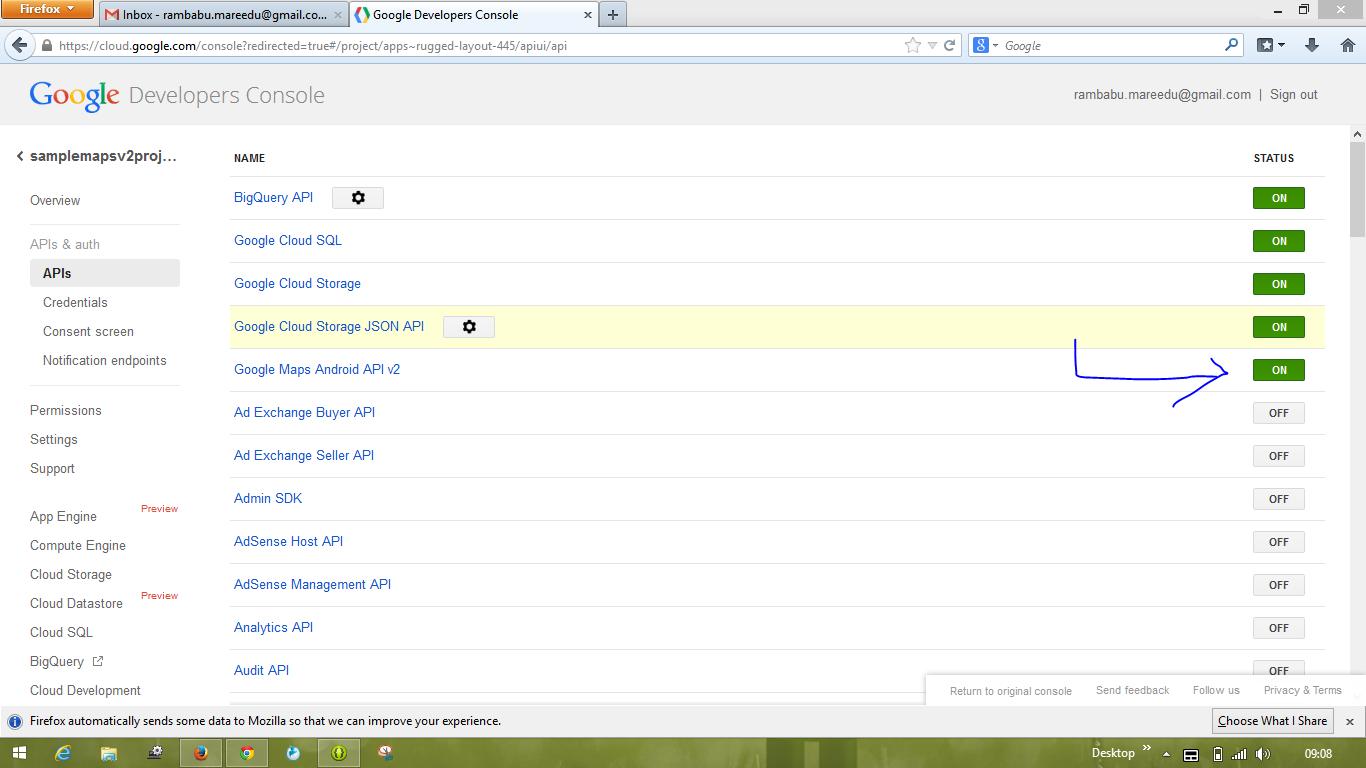 Ramsandroid google maps android api v2 - Google map api key console ...