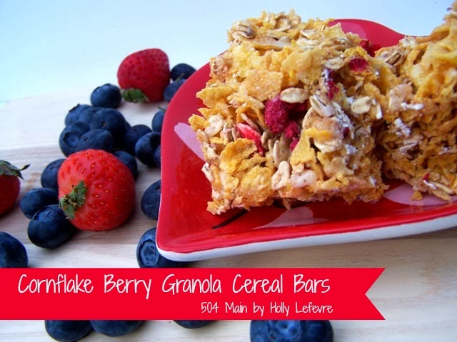 Cornflake Berry Granola Cereal Bars by 504Main