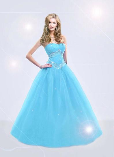 latest barbie fashion baby blue prom dresses