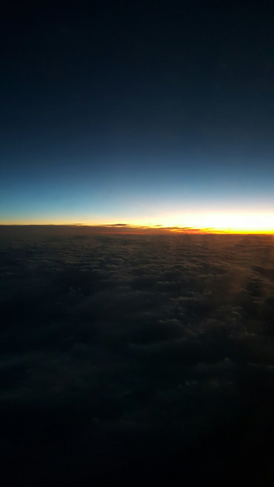 Sunset Over the Clouds Somewhere Over Arizona