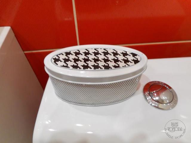łazienka, czerwony, diy