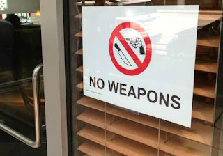 No Guns Business Sign
