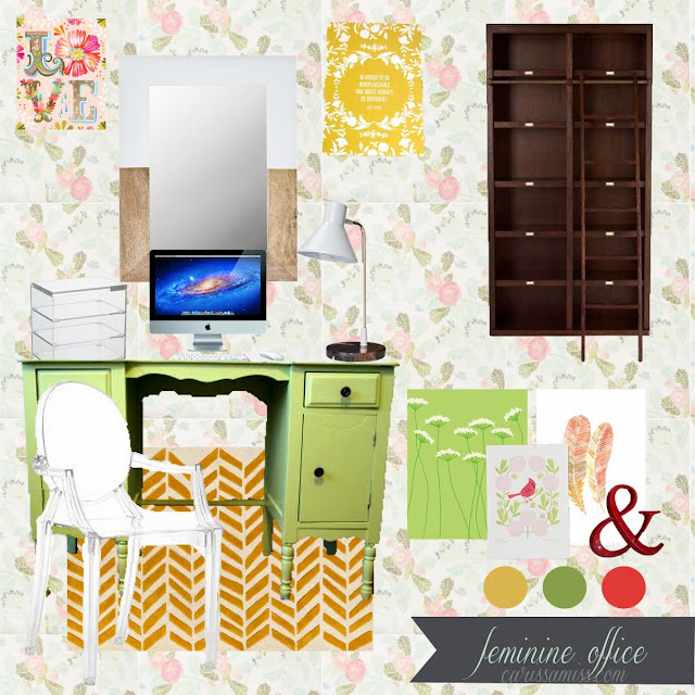 Carissa Miss: Feminine and Fun Office Mood Board