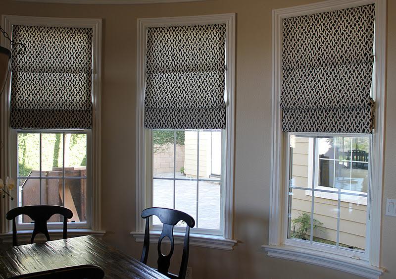 BDG Style: Custom Window Treatments: Fabric Roman Shades