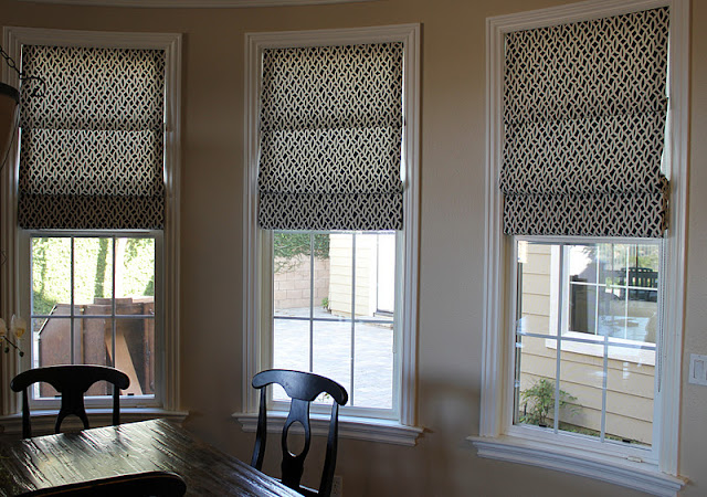 Custom Window Treatments: Fabric Roman Shades