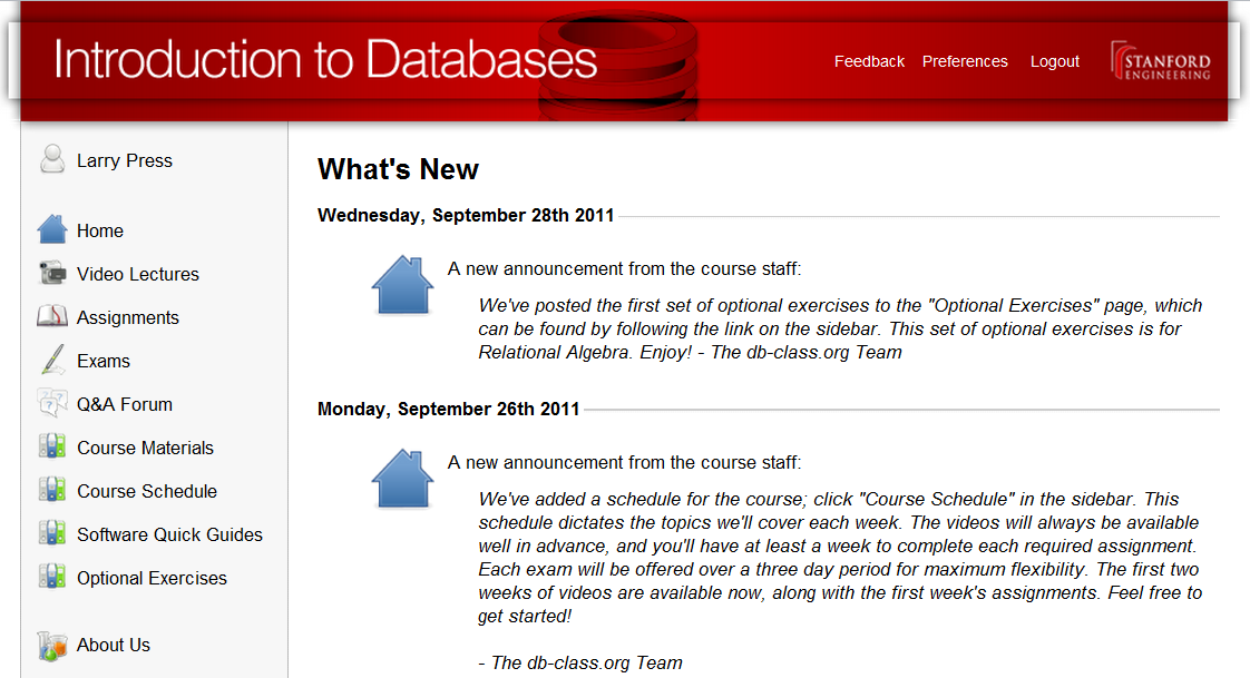 stanford courses online