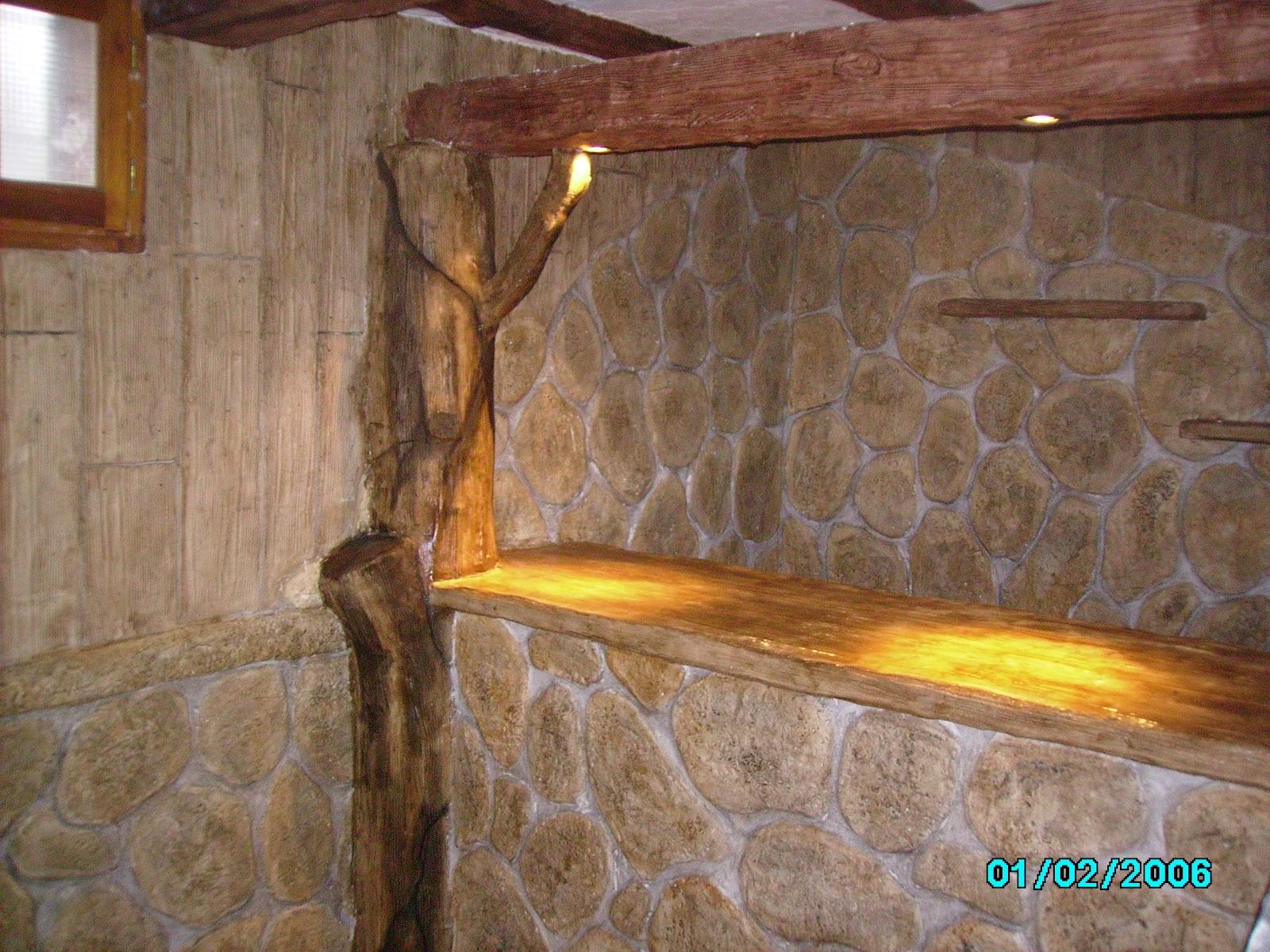 Piedras y maderas artificiales javier lude a tlf - Piedra decorativa para paredes ...