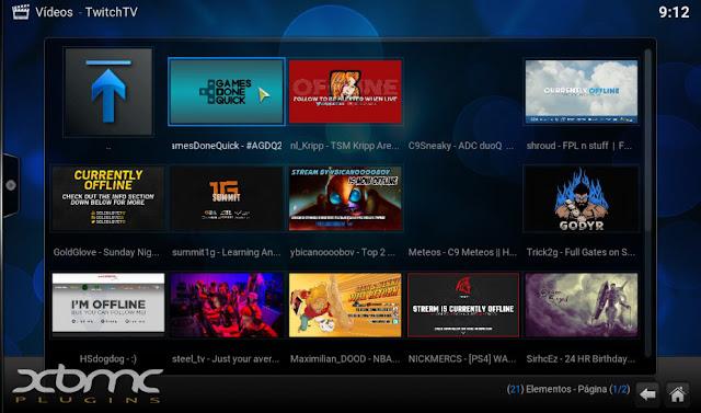 TWITCH TV para disfrutar en KODI