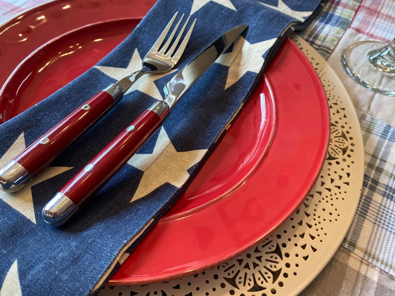 Stars and Plaid Independence Day
