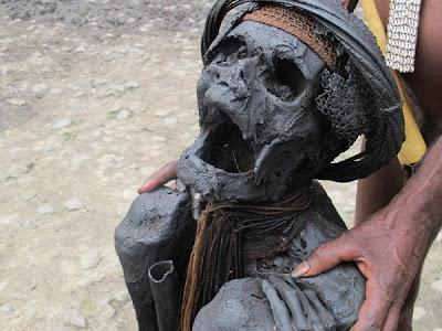 Foto Wajah Mumi Ratusan Tahun di Wamena, Papua