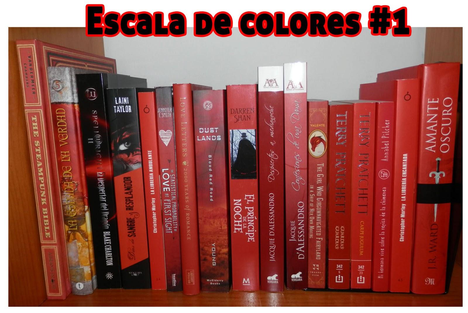 Book eater: Escala de colores 1: rojo