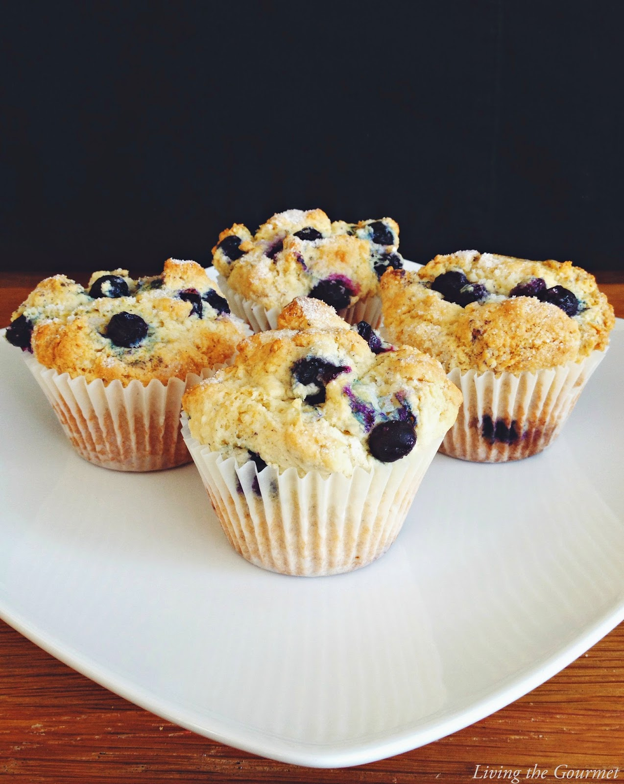 Featured Recipe | Easy Blueberry Muffins from Living the Gourmet #recipe #SecretRecipeClub #breakfast #muffins #blueberry