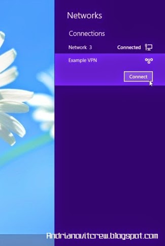Cara Menggunakan VPN Di Windows 8 c