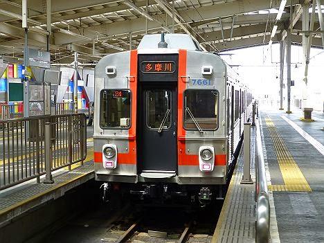 東京急行電鉄池上線 多摩川行き2 7600系7601F(歌舞伎塗装)