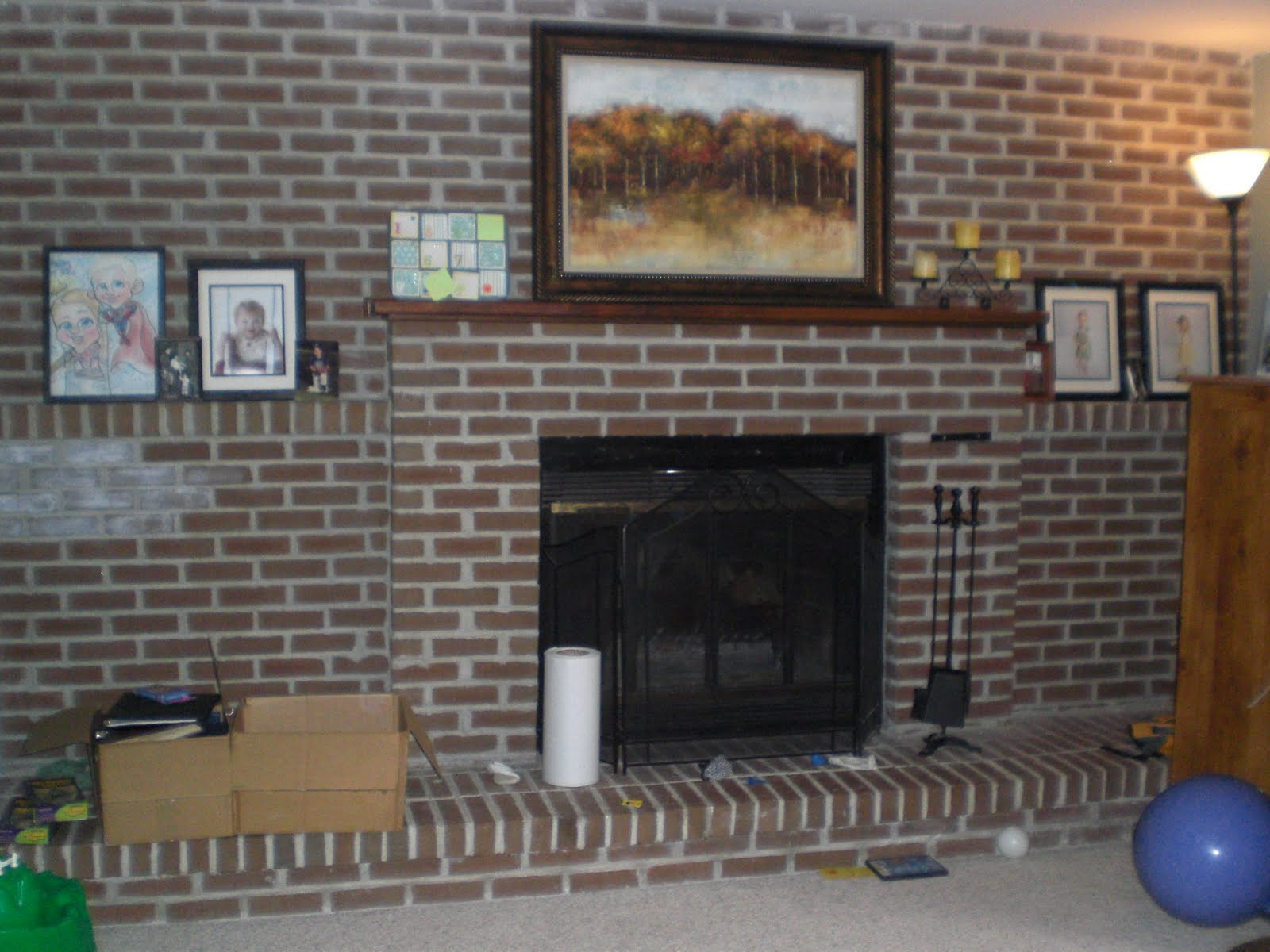 Diy decor brick fireplace makeover Brick fireplace wall decorating ideas