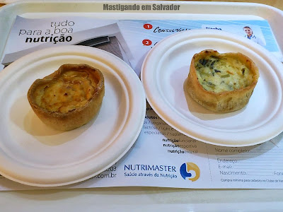 Salad Creations: Quiches de Funghi com Emmental e de Peito de Perú com Cream Cheese