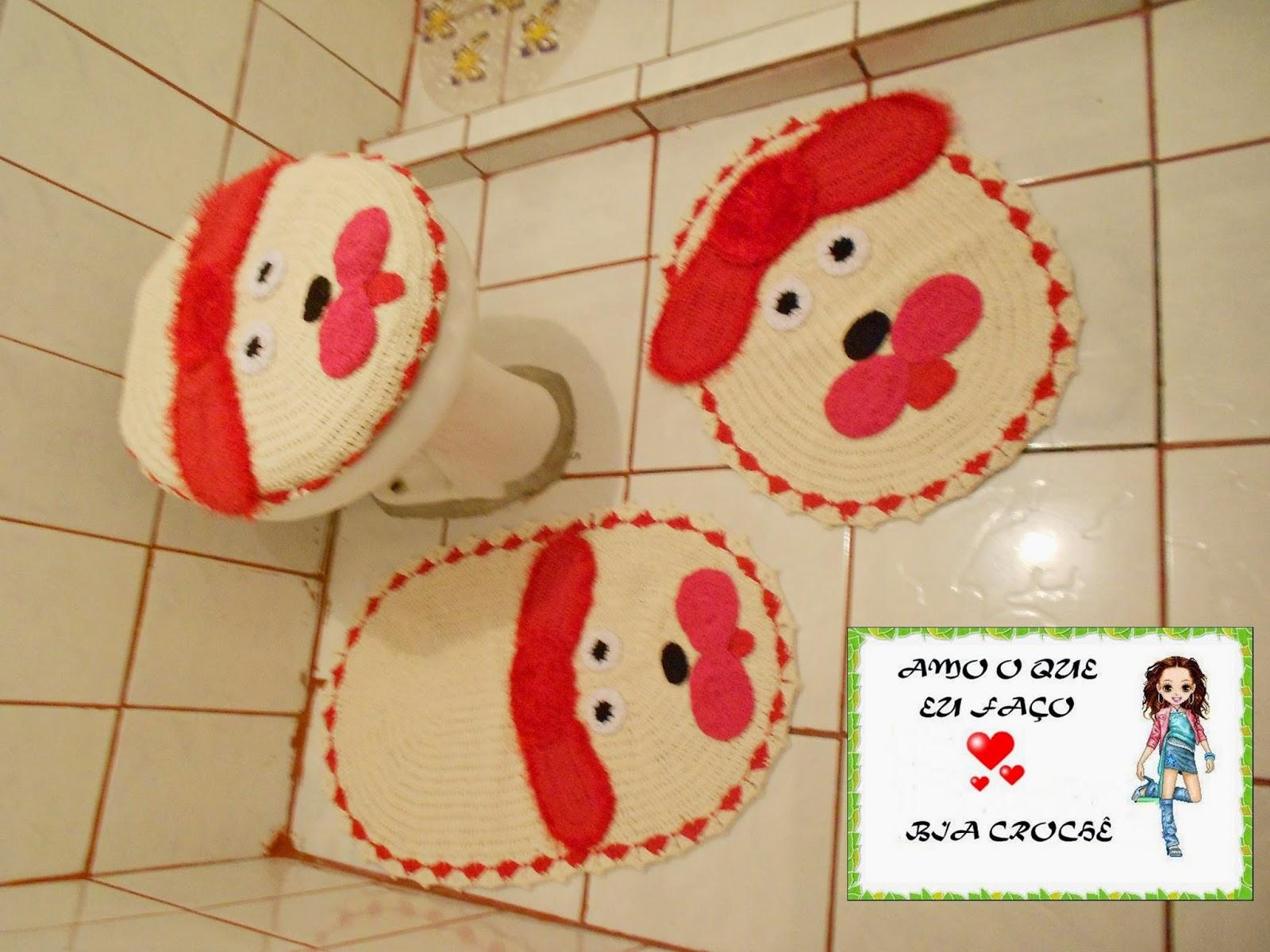 Trabalhos de Crochê: JOGO DE BANHEIRO DE CACHORRO #B11E1A 1600x1200 Banheiro De Cachorro Funciona