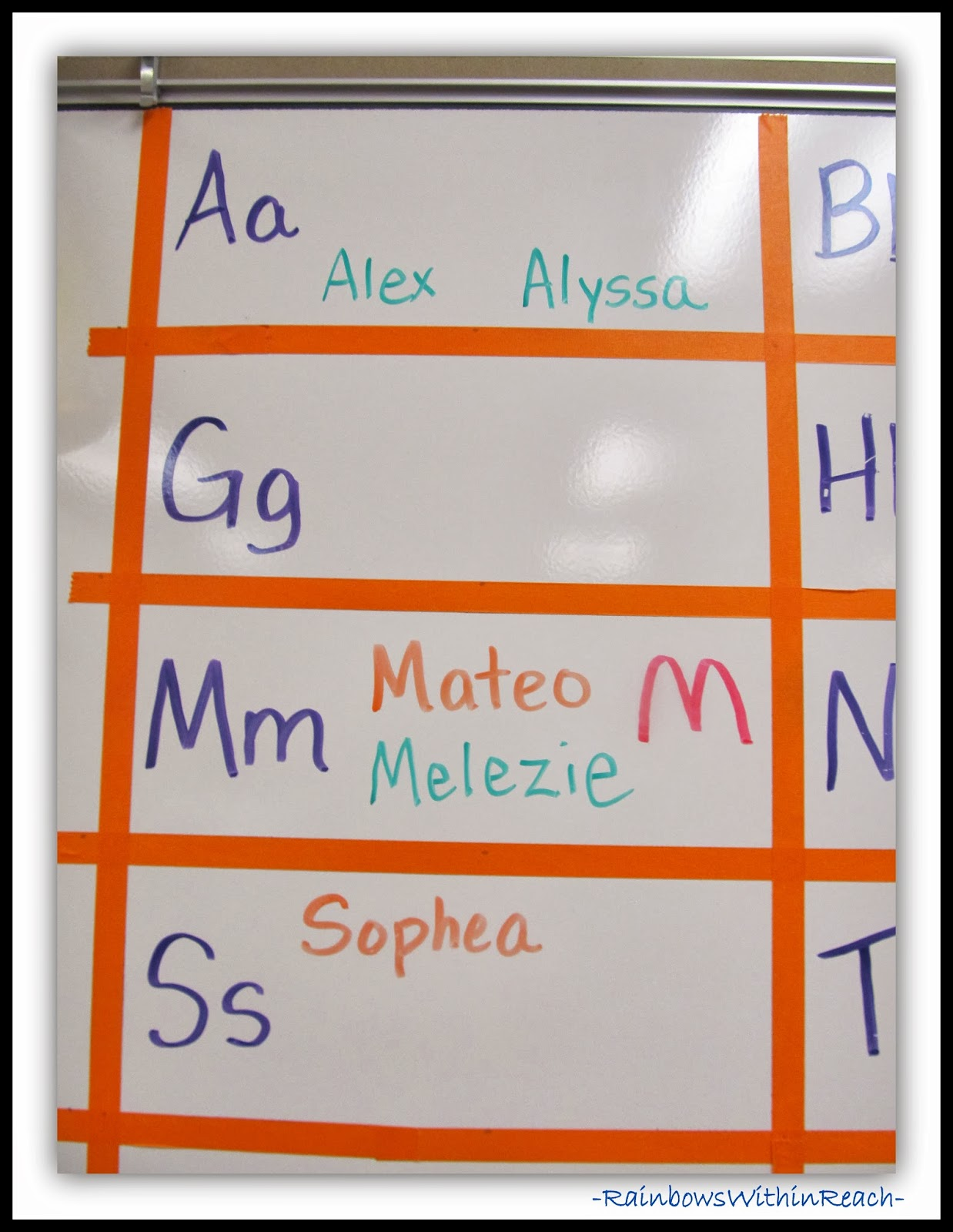Word Wall with Student Names