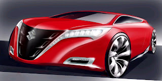 Futuristic Suzuki Cars Coloring Pages
