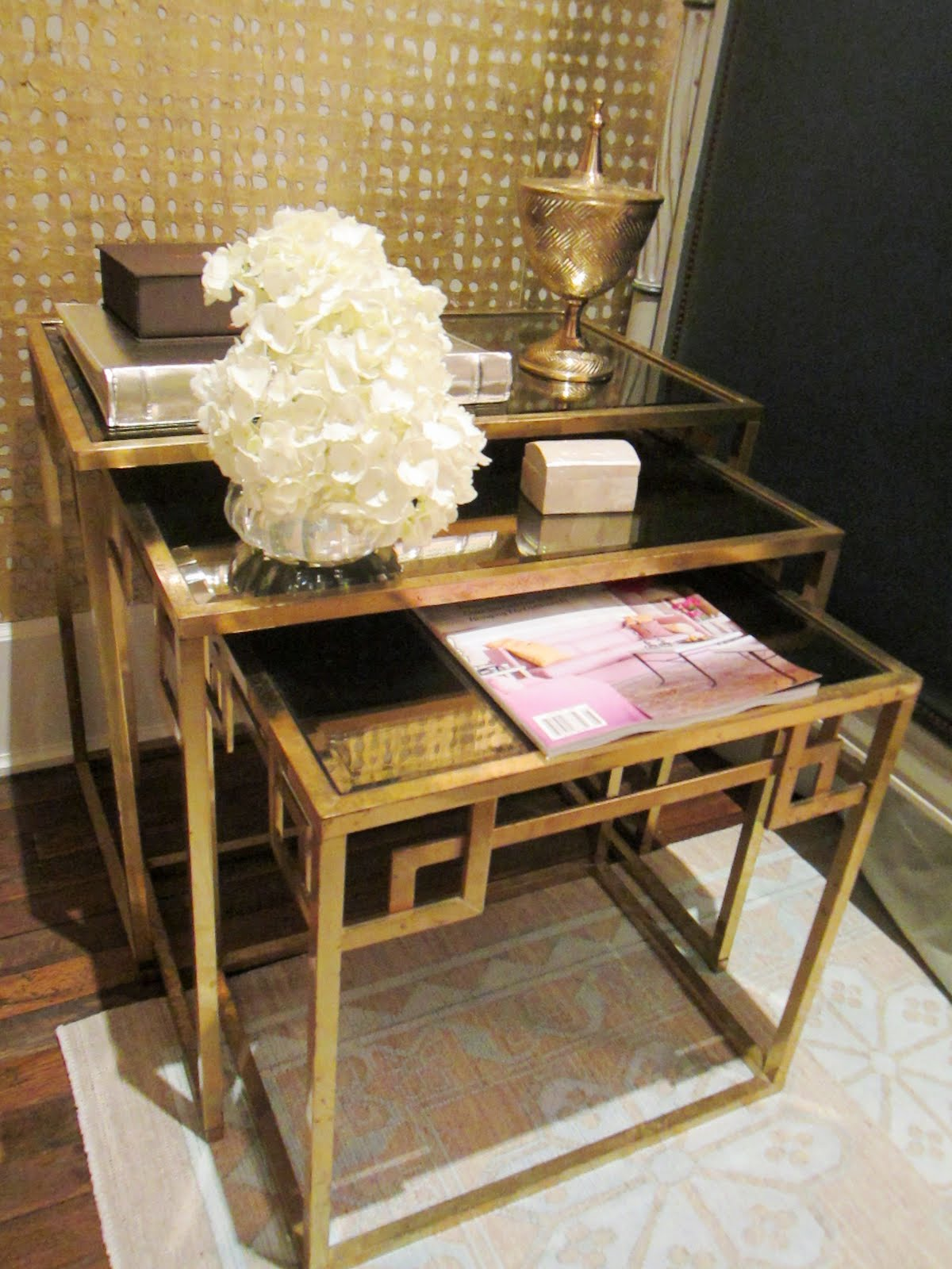 Gold Nesting Tables ~ Cococozy the house of windsor all that glitters is a