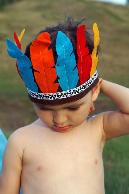 индейский головной перьевой убор