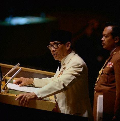 Bung Karno dalam Sidang Majelis PBB di New York, 30 Sepetember 1960