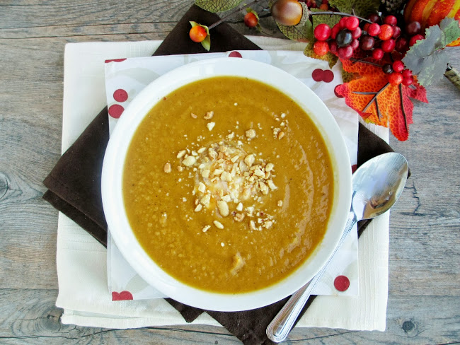 Vanilla & Spice: Curried Sweet Potato, Apple & Peanut Soup