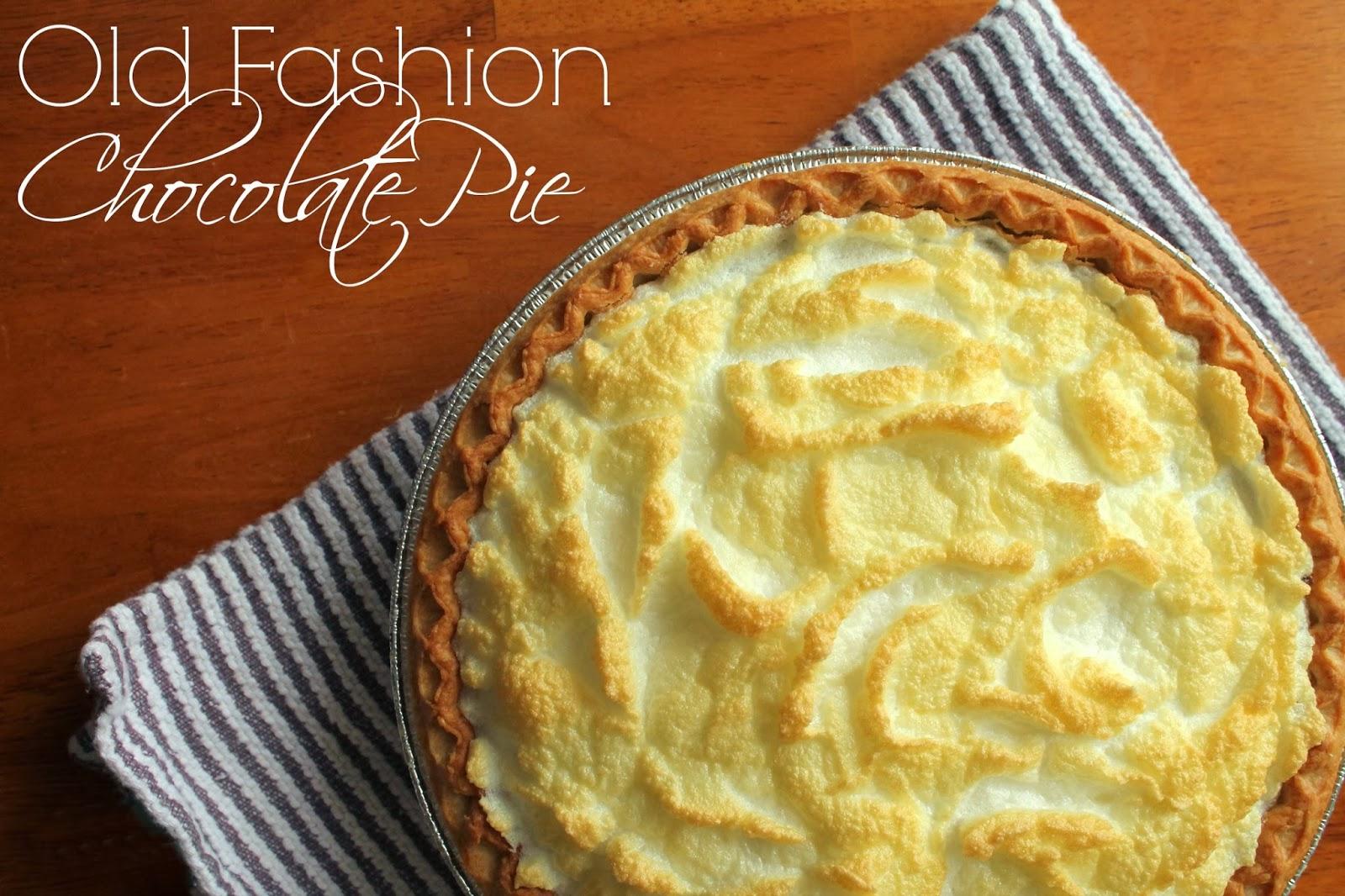 Old Fashion Chocolate Pie | My Grandmother's Recipes Louisiana Bride
