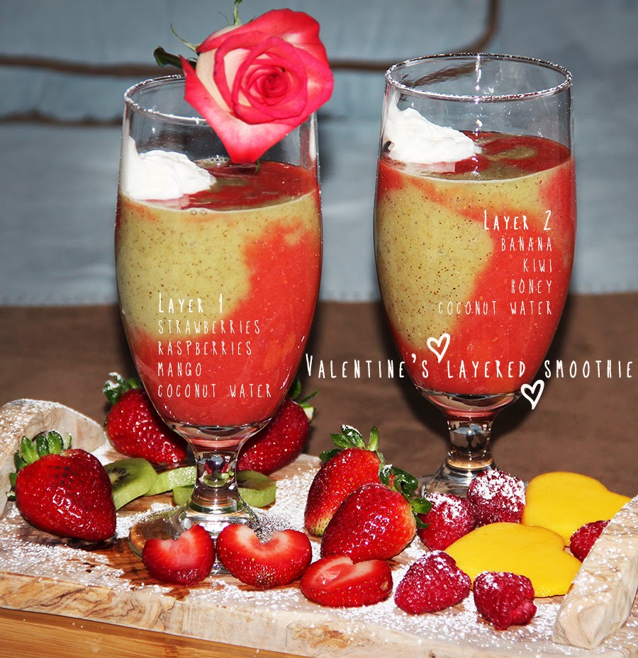 Valentine's Layered Smoothie