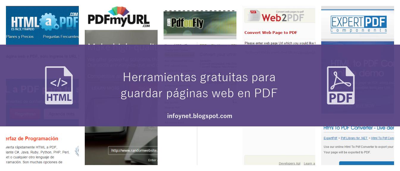 Herramientas gratuitas para guardar páginas web en PDF