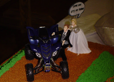 4-Wheeler Themed Groom's Cake - Close-up of Topper 2