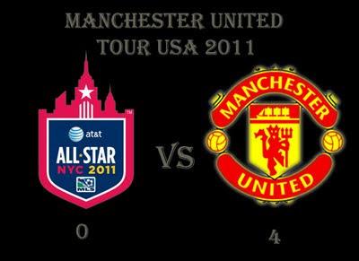 Man Utd Tour USA MLS All-Stars 0 v 4 Manchester United