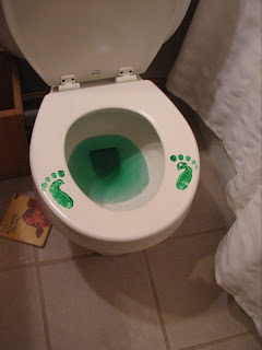 Leprechaun footprints