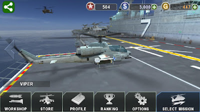 GUNSHIP BATTLE Helicopter 3D v2.0.2 MOD APK Android