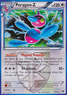 Porygon-Z Plasma Blast Pokemon Card