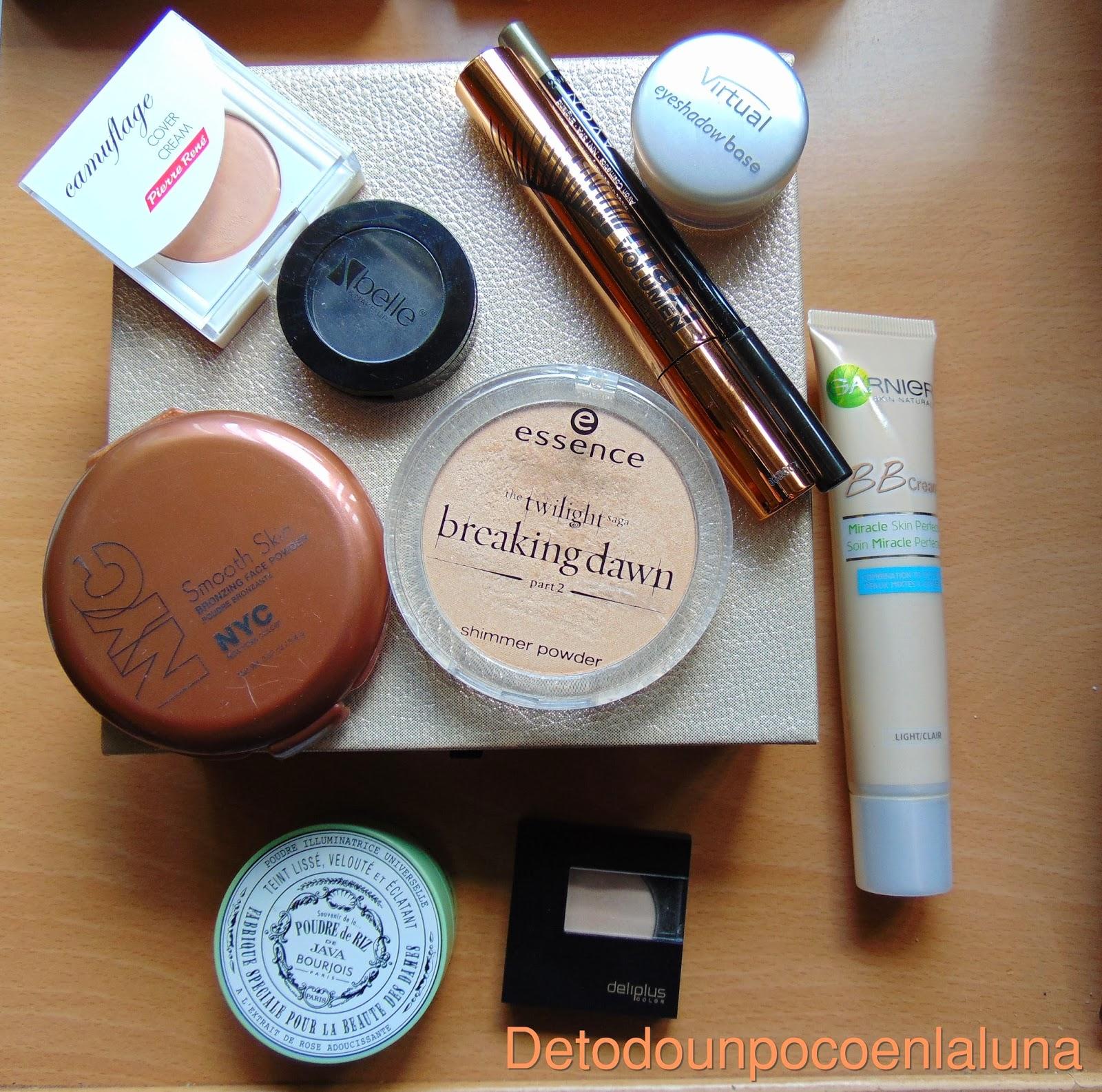 Productos Look en tonos rojizos paleta Marionnaud