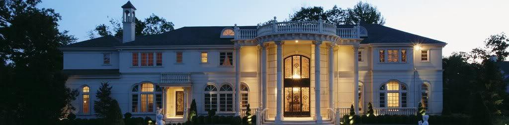 traumh user luxus immobilien traumhaus in form einer klassischen luxusvilla in den usa. Black Bedroom Furniture Sets. Home Design Ideas