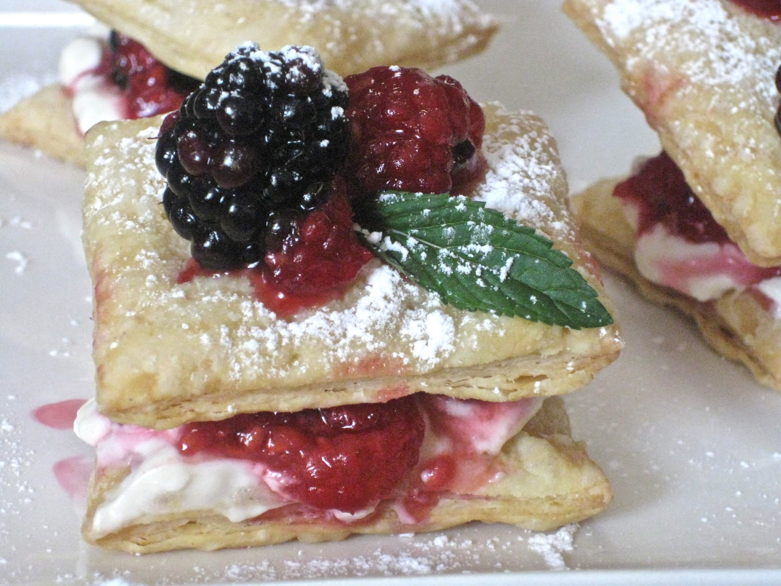 flavors of the sun puff pastry and an easy summer dessert