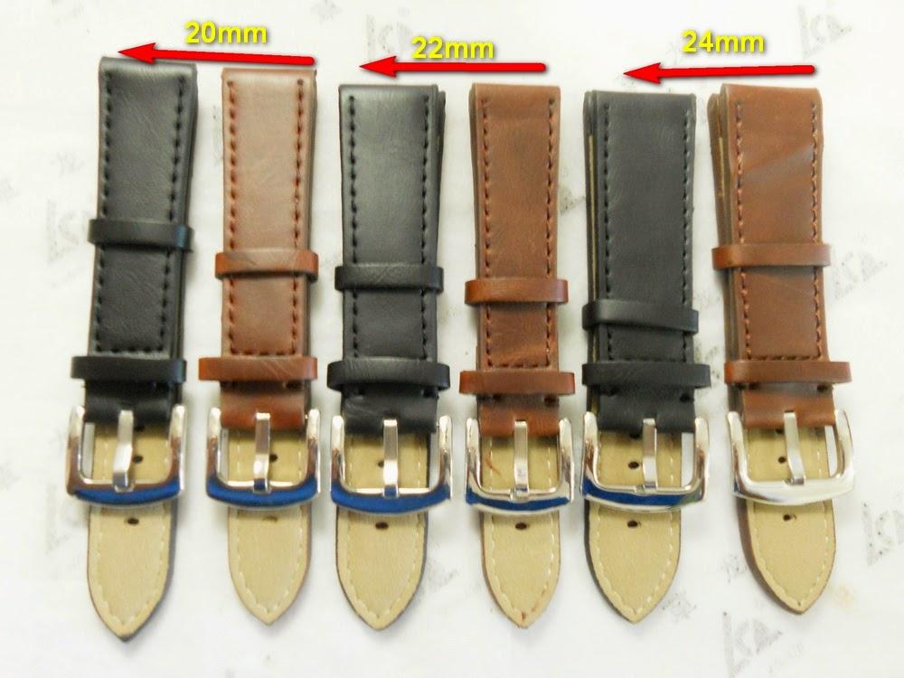 STRAP KULIT TEBAL UKURAN 20mm,22mm DAN 24mm