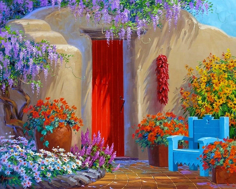Cuadros modernos pinturas y dibujos cuadros de flores en - Cuadros faciles de copiar ...