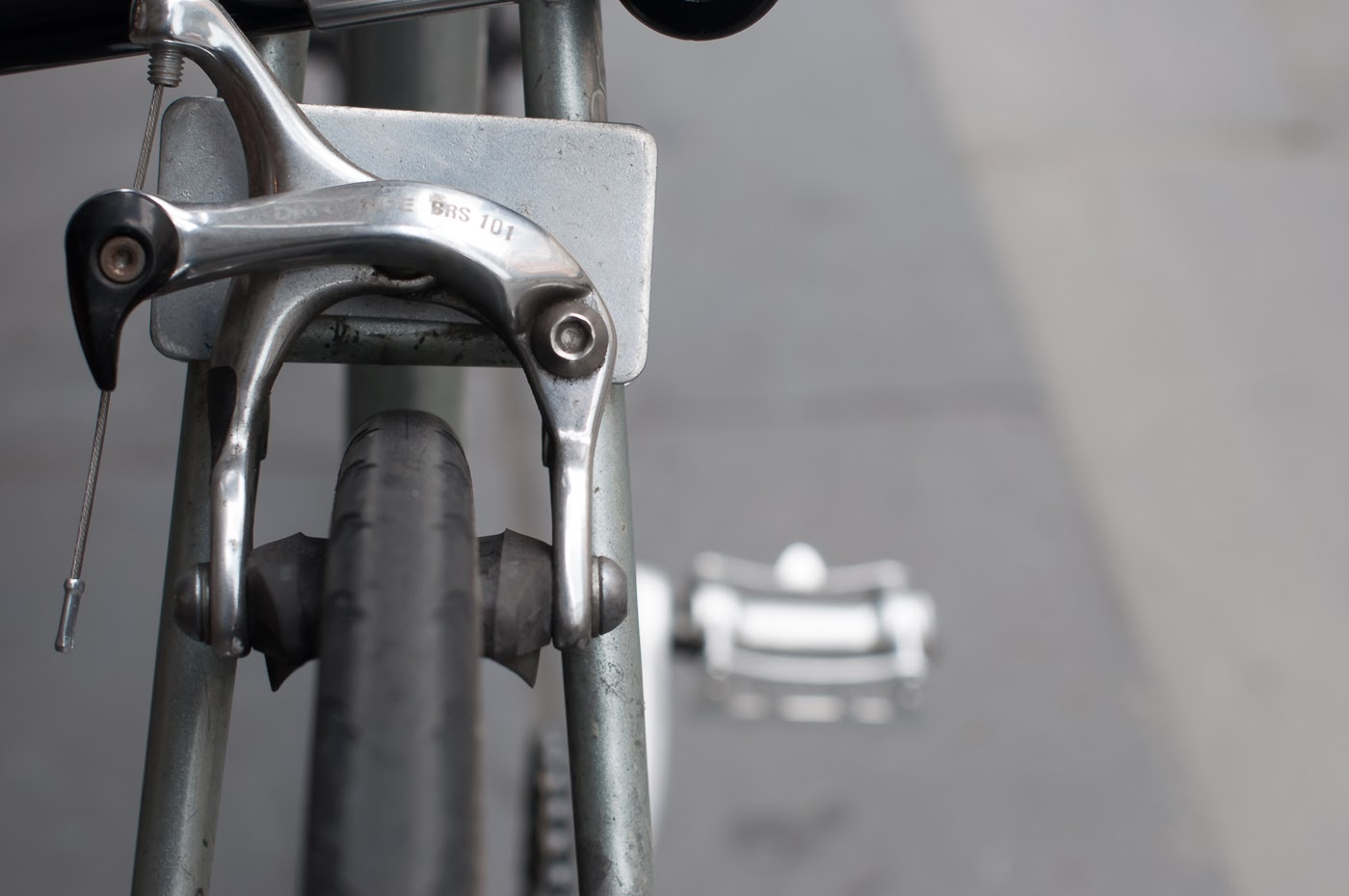 njs, single speed, bike, bicycle, tim macauley, the biketorialist, melbourne, track frame, conversion, presto, brake mount, frame mount, rear brake,