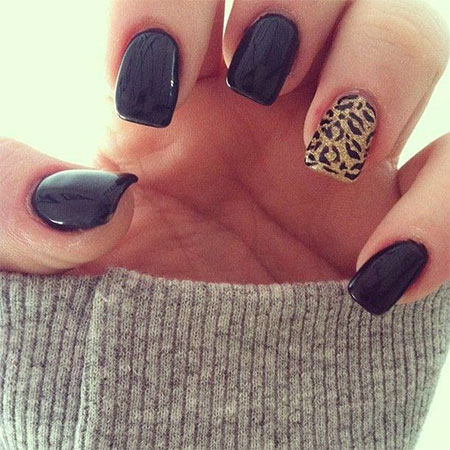 Black Acrylic Nail Designs Trends 2015 - 2016 8