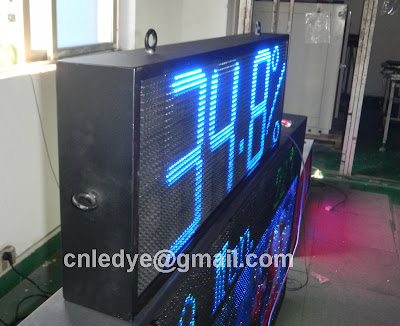 large led clock timer sign