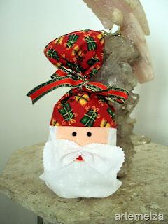 Saquinho para o natal de papai noel de feltro