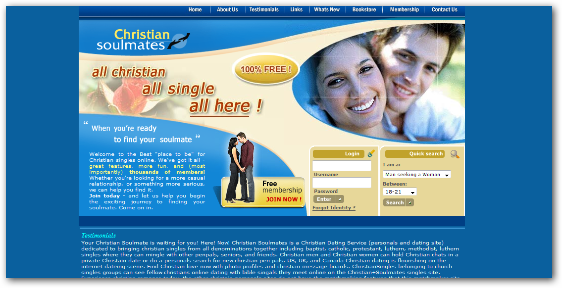 Single christian dating sites