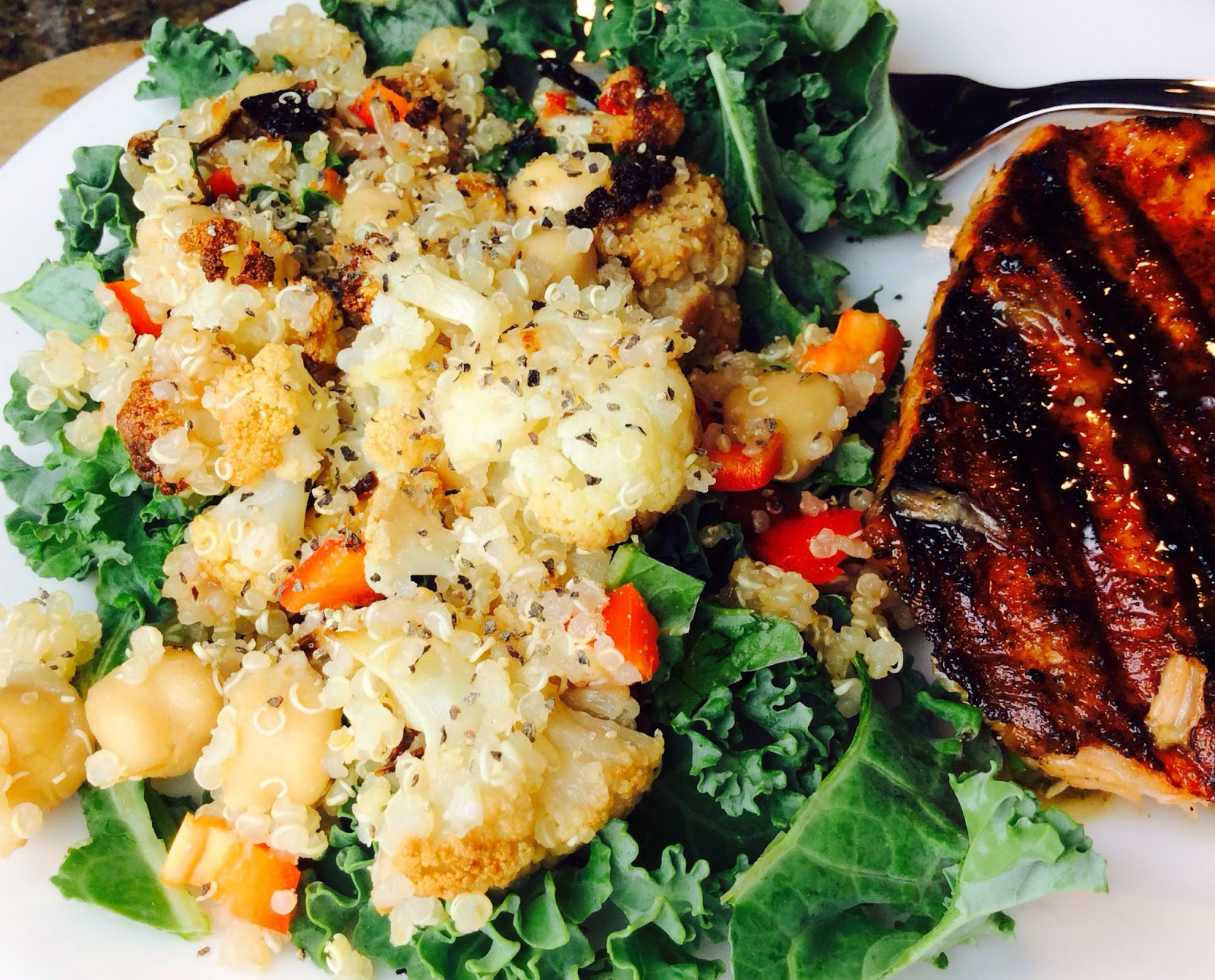 Food Fitness by Paige: Roasted Cauliflower Garbonzo Bean ...