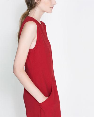 cepli bol kesim kırmızı vişne elbise